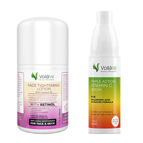 Face Tightening Lotion and Vitamin C Serum