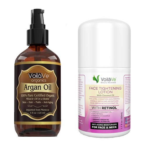 Argan Oil and Face Tightening Lotion Combo Pack