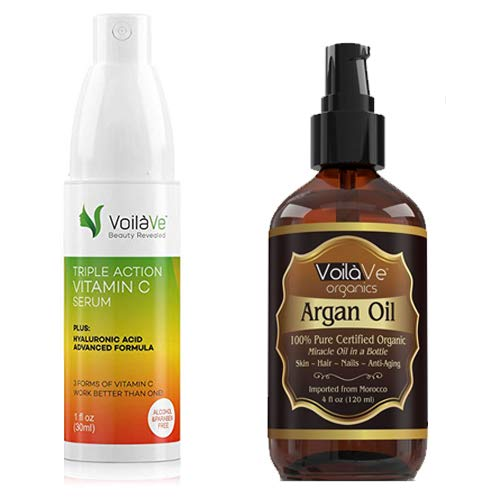 Argan Oil and Vitamin C Serum Combo Pack