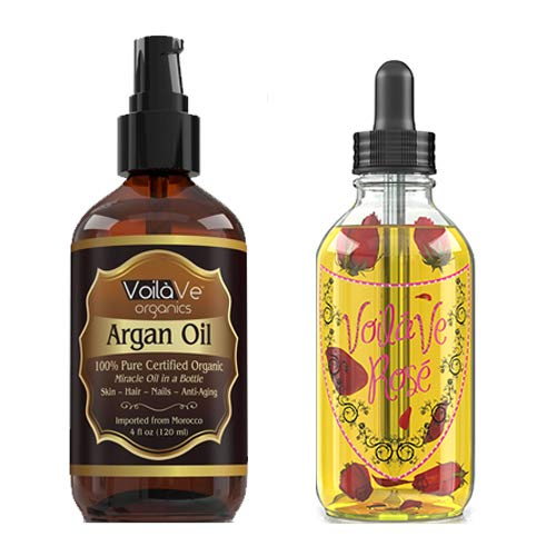Argan Oil and VoilaVe Rose Oil Combo
