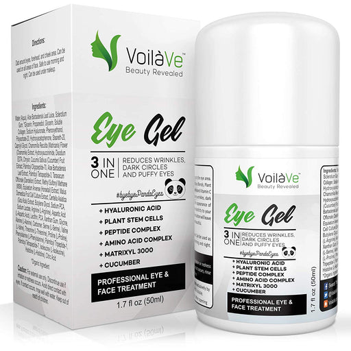 VoilaVe 3-in-1 Under Eye Gel Anti-Aging Eye Cream