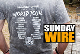 "SUNDAY WIRE ""World Tour"" Concert T-Shirt"
