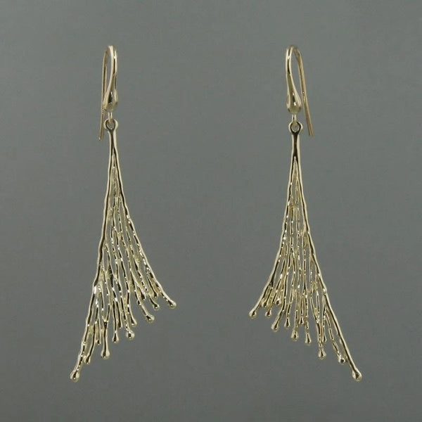Fashionable gold earrings