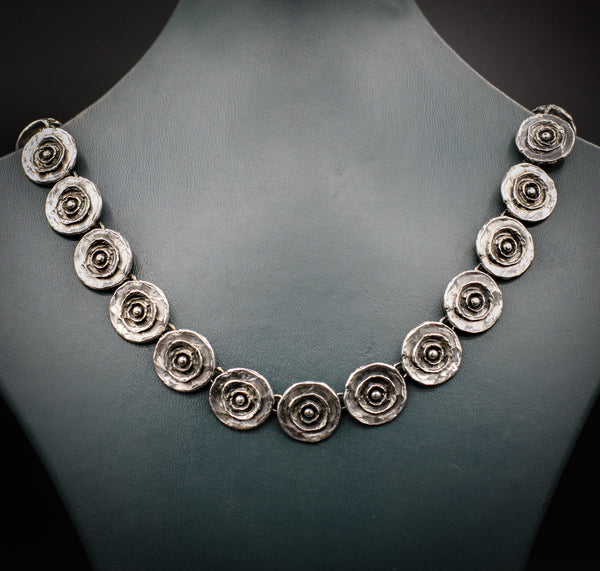 """Shaybot"" collection oxidized silver necklace"
