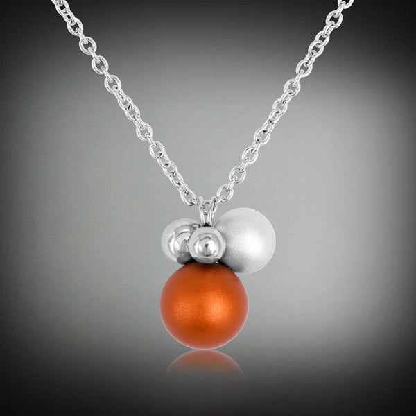 """Colorful aluminum"" collection drop shape pendant with pearl"