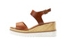 Carolina Cognac Open Toe Wedge