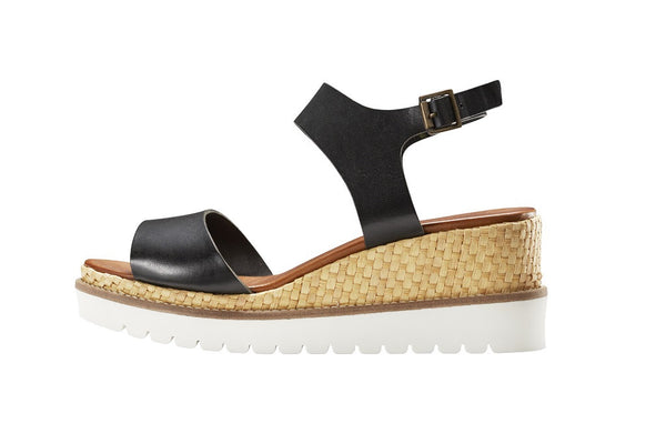 Carolina Midnight Open Toe Wedge