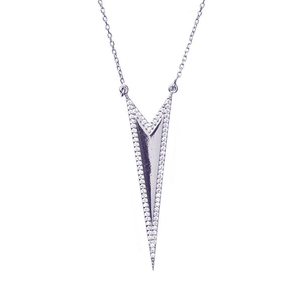 Boom Spiked Outline Necklace Sterling Silver
