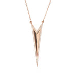 Boom Spiked Outline Necklace Rose Gold