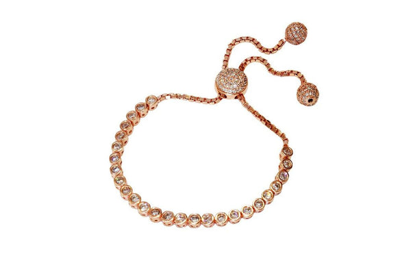 Boom Bubble Adjustable Tennis Bracelet Rose Gold