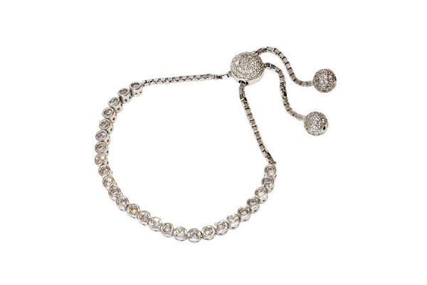 Boom Bubble Adjustable Tennis Bracelet Sterling Silver