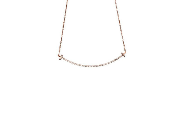 Boom Smile Line Rose Gold Necklace