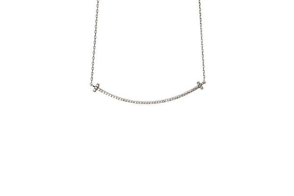 Boom Smile Line Sterling Silver Necklace