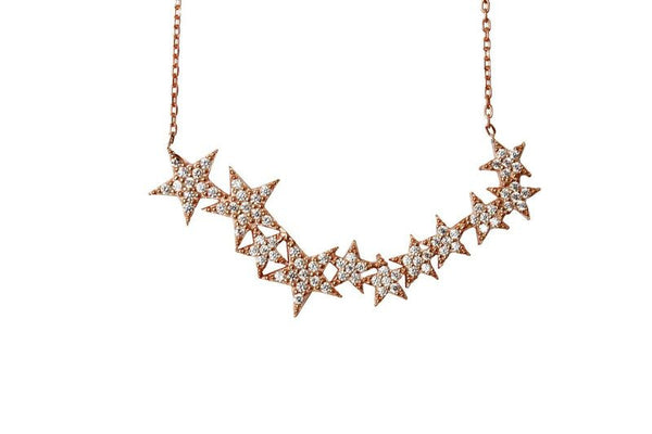 Boom Star Burst Sterling Silver Necklace
