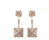 Boom Pyramid Stud Spike Ear Jackets Rose Gold