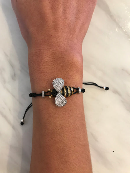 Boom Bee Mine Bumble Bee Adjustable Bracelet