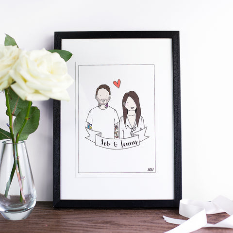 Personalised Couple Illustration