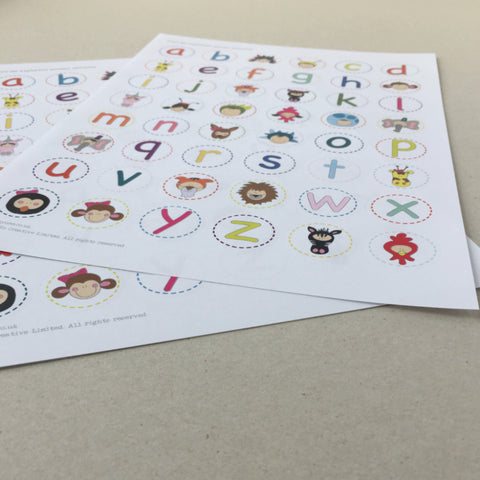 Alphabet Animal Stickers