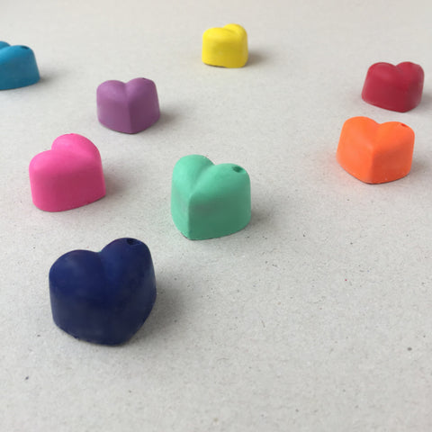 Heart Shaped Crayons