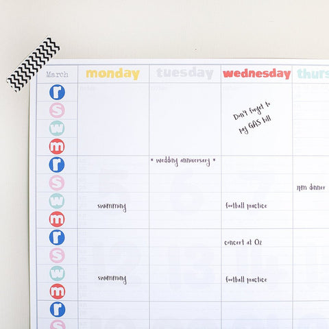Personalised Family Wall Planner