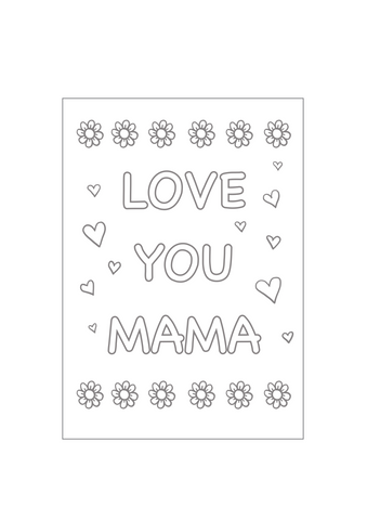 Mothers Day Printable Colouring Sheets