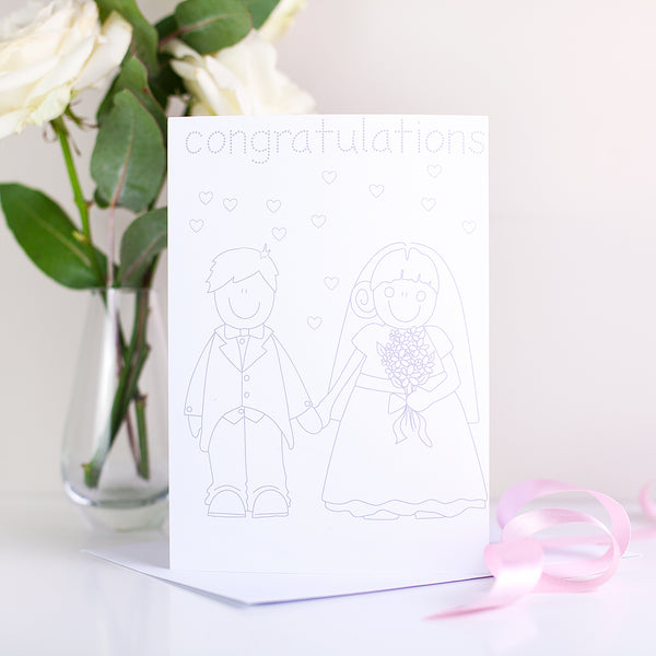 Wedding Colour-Me-In Card