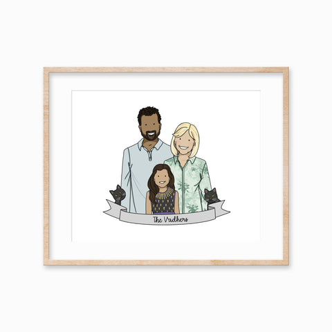 Personalised Family Illustration