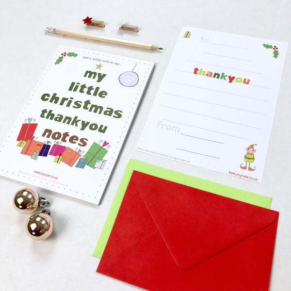 Christmas Thank You Note Pad