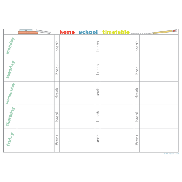 Home School Timetable
