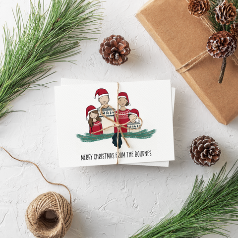 Personalised Portrait Christmas Cards