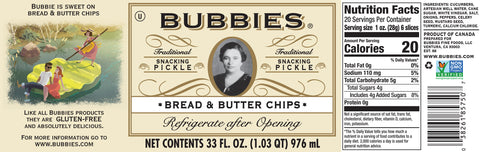 Bubbie's Bread & Butter Pickle Chips