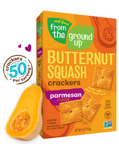 From the Ground Up Butternut Squash Crackers Parmesan