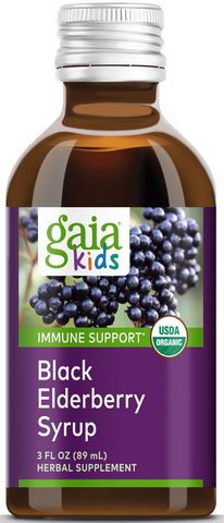 Gaia Black Elderberry Syrup for Kids