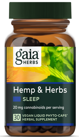 Gaia Hemp Extract CBD & Herbs Sleep Phyto-Caps *TPR*