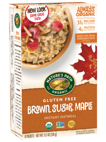 Nature's Path Oatmeal Packets - Organic Brown Sugar Maple
