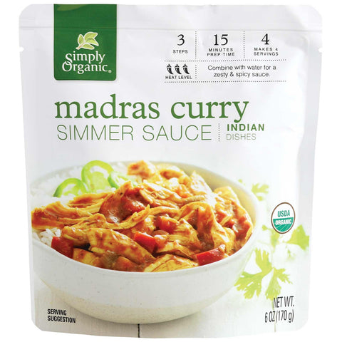 Simply Organic Madras Curry Simmer Sauce