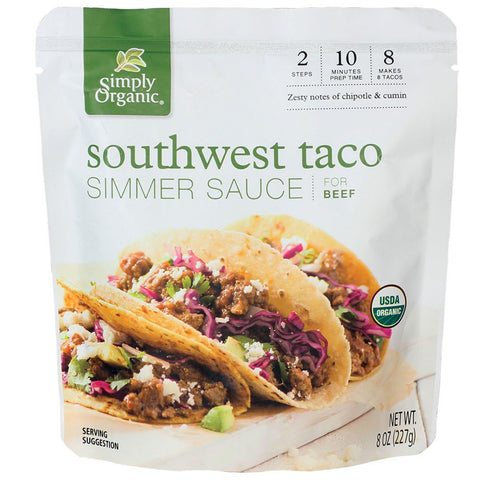 Simply Organic Southwest Taco Simmer Sauce