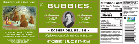 Bubbie's Kosher Dill Relish