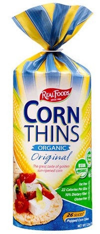 Real Foods Corn Thins (2 Varieties)