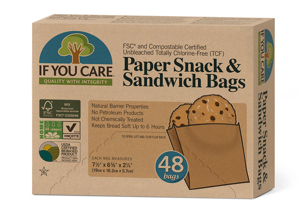 If You Care Snack & Sandwich Bags Unbleached Paper