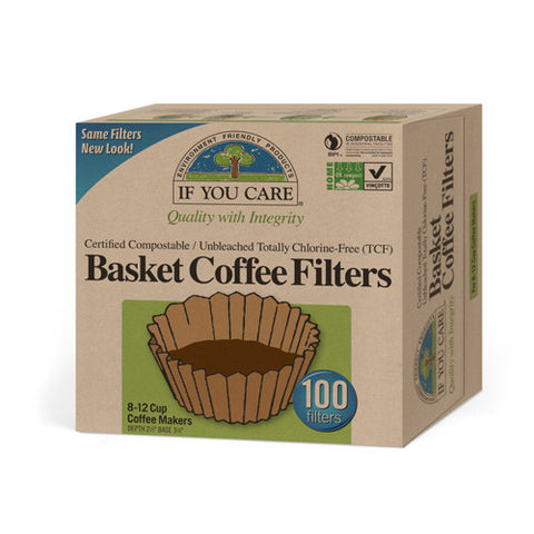 If You Care Basket Coffee Filters - Unbleached