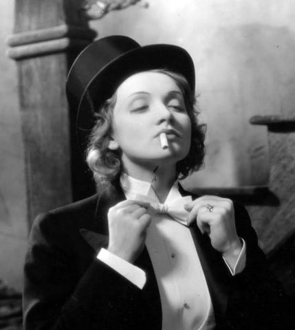 Marlene Dietrich started a new fashion trend: women's bow ties