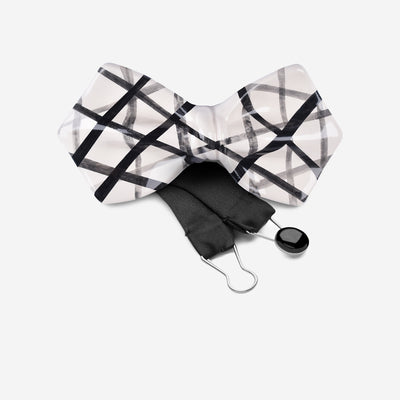 black-and-white-minimalist-bow-tie-ceramic-signature-bow-tie-designer-yojo