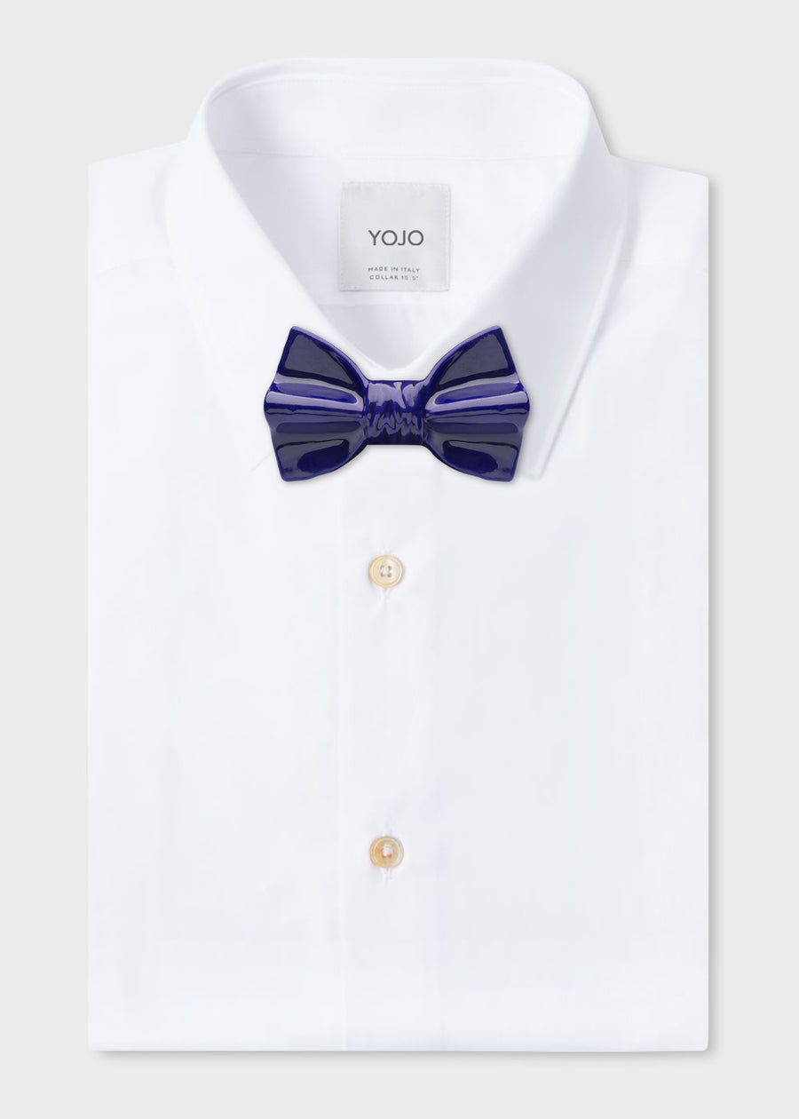 ceramic bow tie blue for luxury man | YOJO
