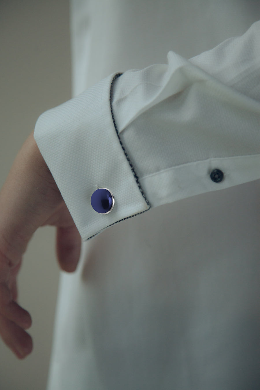 cufflinks blue ceramic | YOJO