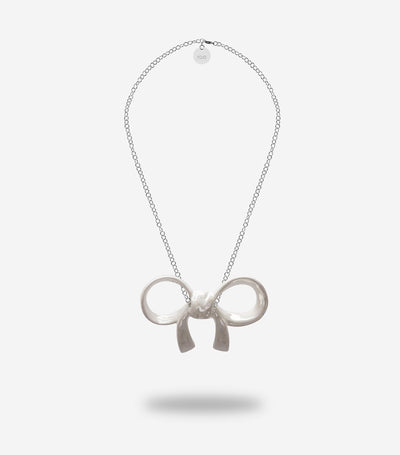 woman jewellery pearl ceramic ribbon pendent by YOJO