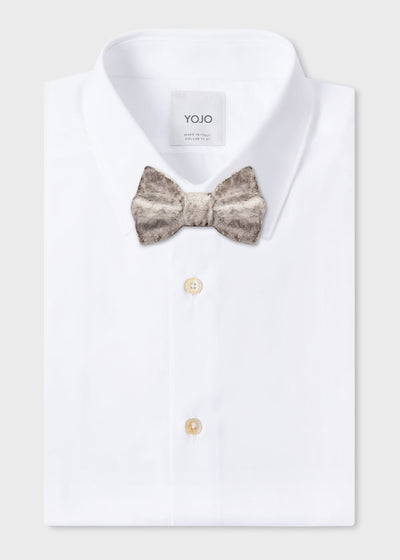 marble bow tie on YOJO shirt