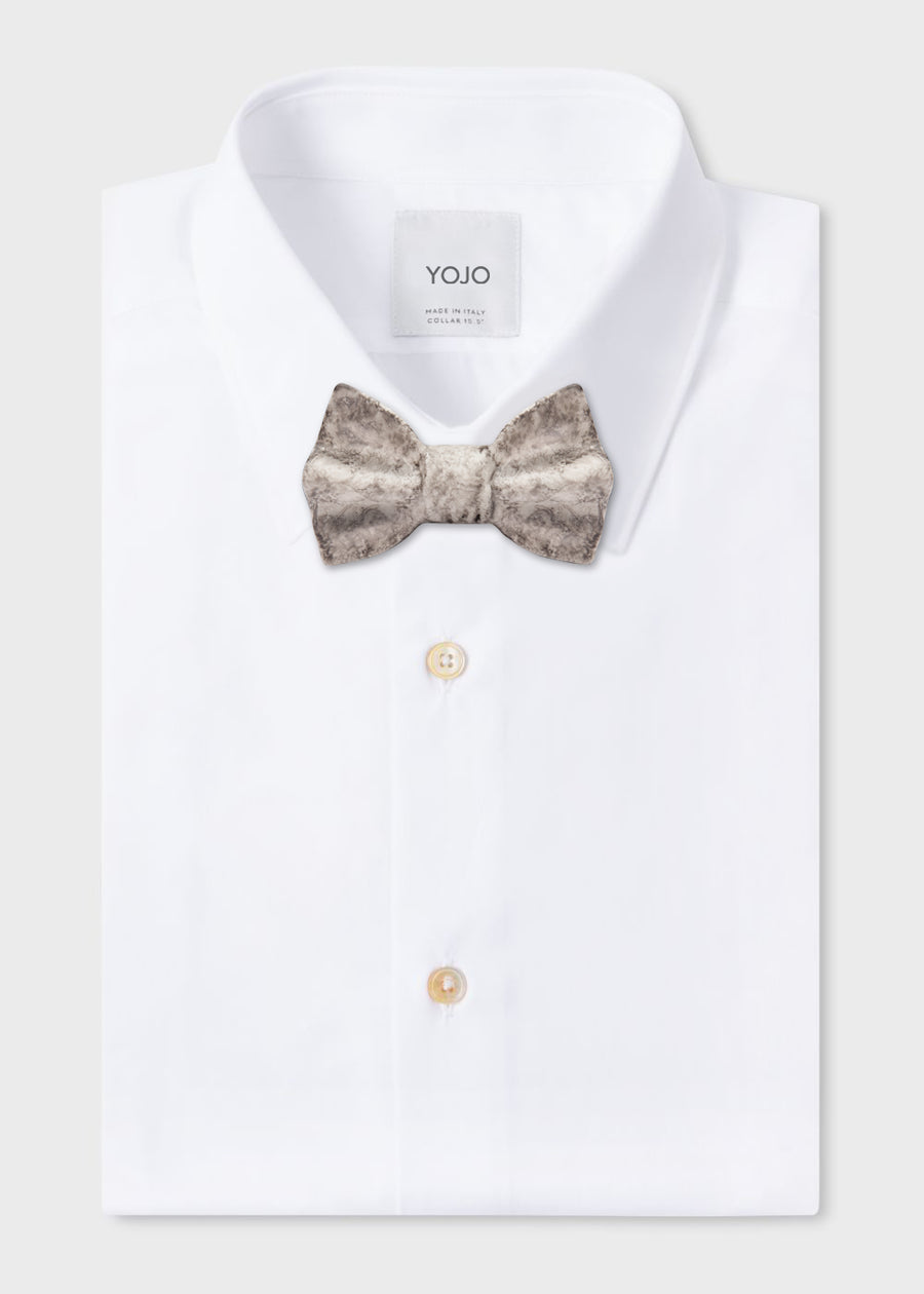 ceramic bow tie in grey marble for luxury men | YOJO
