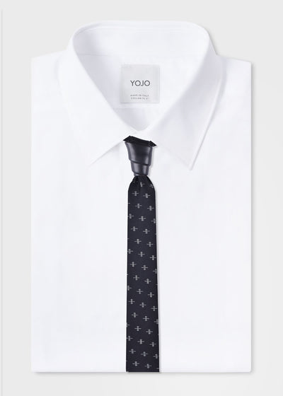 mens-black-tie-silk-necktie-with-van-wijk-knot-on-white-shirt-yojo
