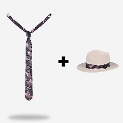 mens-pink-necktie-and-white-panama-hat-match-style-bundle-designer-yojo-